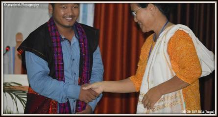 Felicitation to Mission Secretray during ABCC Women Conference